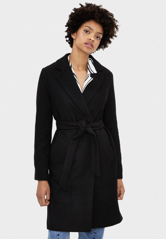 Bershka - MIT GÜRTEL - Classic coat - black