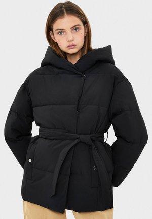MIT GÜRTEL - Zimní bunda - black