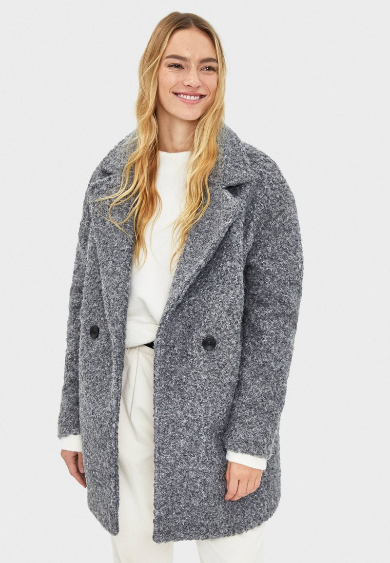 Bershka - Mantel - grey