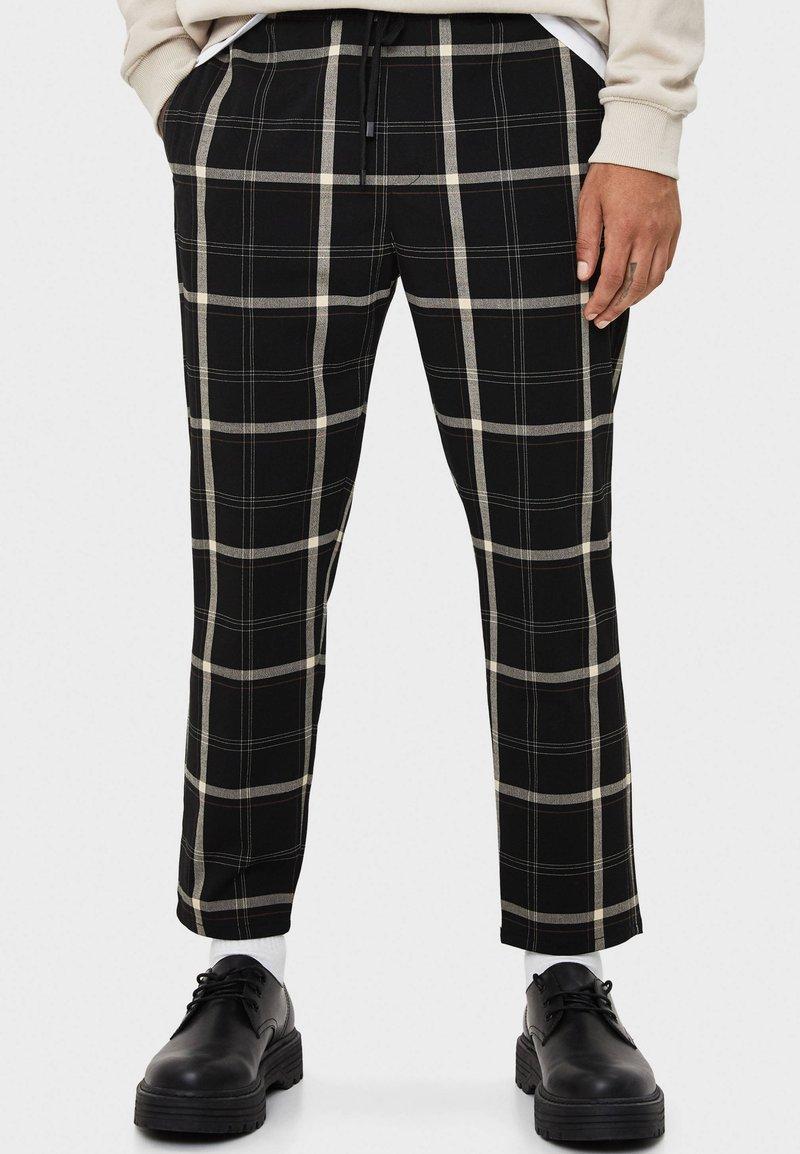 Bershka - TAILORING - Pantalon classique - black