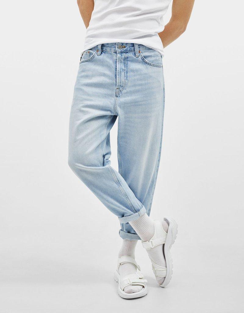 Bershka - Jeans relaxed fit - dark blue