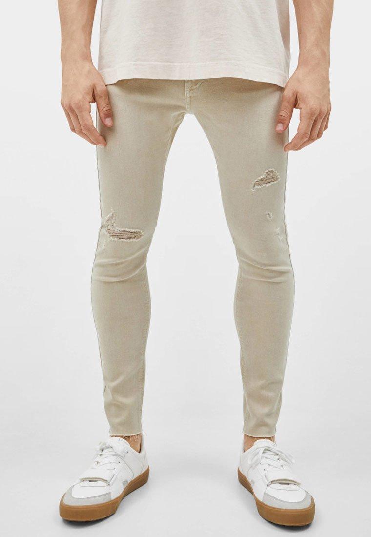 Bershka - SUPERSKINNY - Jeans Skinny Fit - beige