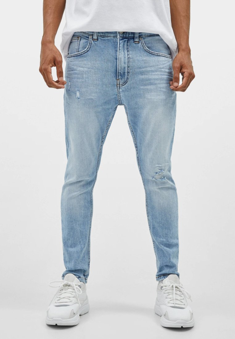 Bershka - Jeans Slim Fit - blue denim
