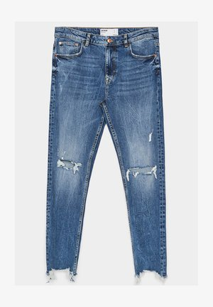MIT RISSEN - Jeans Skinny - light blue