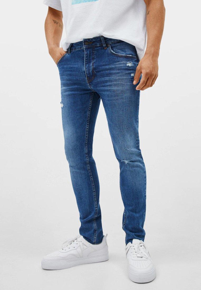 Bershka - Jeans Skinny Fit - blue
