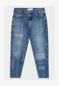 Bershka - LASER  - Jeansy Straight Leg - blue - 5