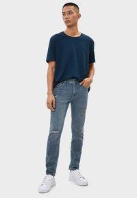 Bershka - Jeans Skinny Fit - grey - 1