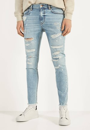 SUPER-SKINNY-FIT-JEANS MIT RISSEN 00242251 - Jeans Skinny Fit - blue denim