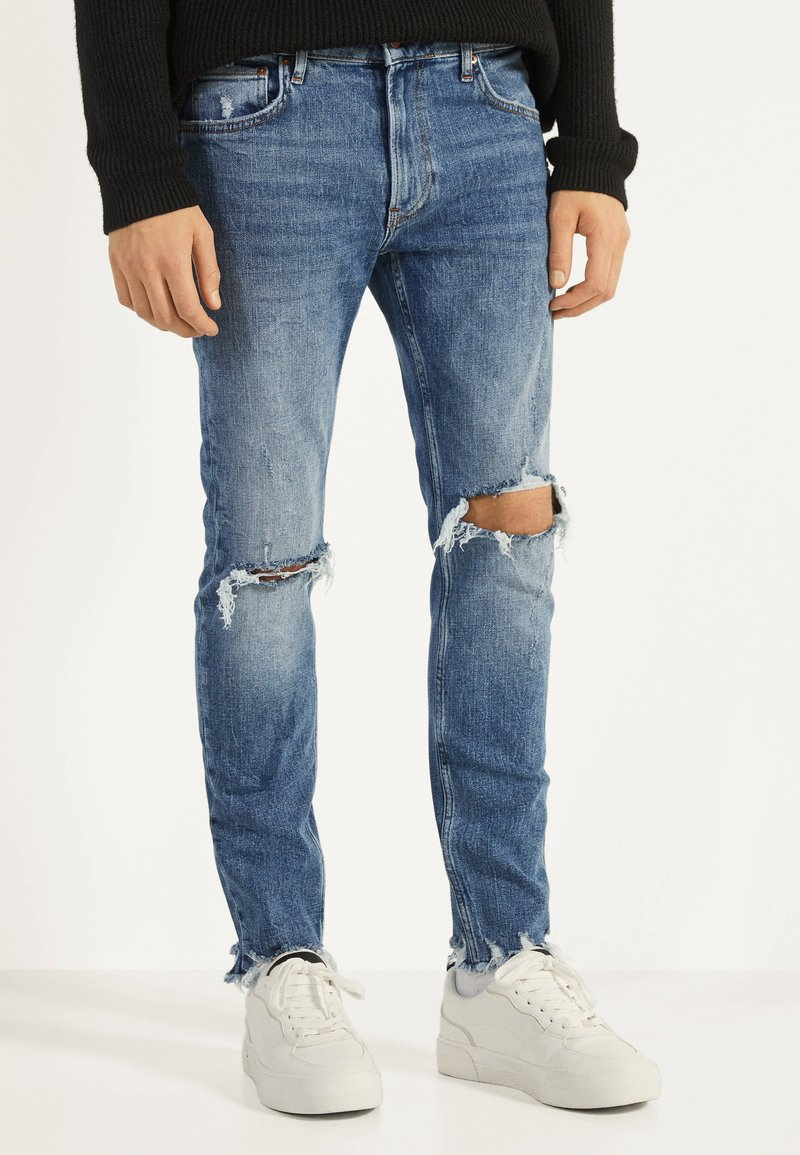 Bershka - Skinny džíny - blue denim