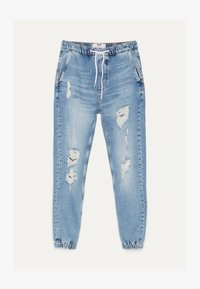 Bershka - MIT RISSEN - Jeans Tapered Fit - blue denim - 4