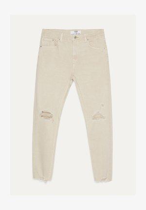 MIT RISSEN  - Skinny džíny - beige