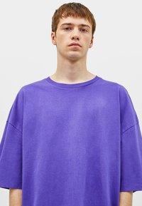 Bershka - T-shirt basique - mauve - 3