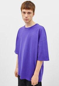 Bershka - T-shirt basique - mauve - 0
