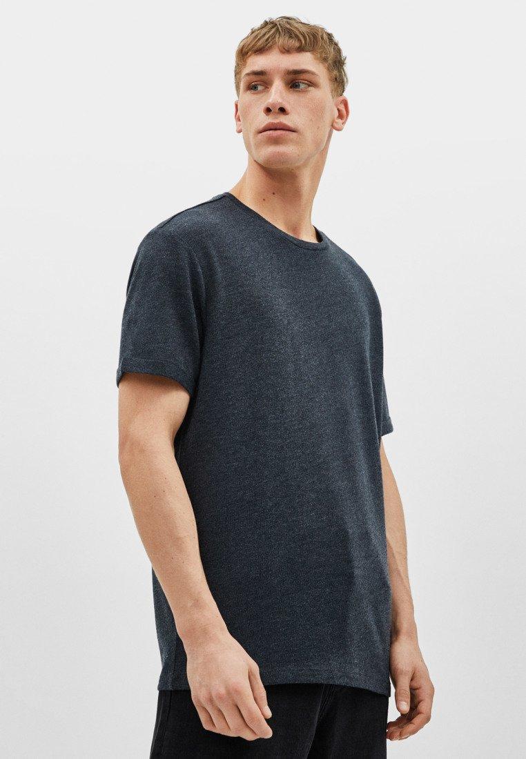 Bershka - Basic T-shirt - light grey