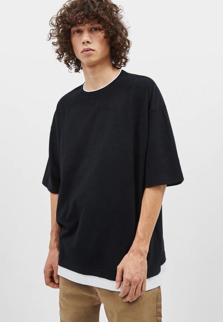 Bershka - T-shirt basique - black