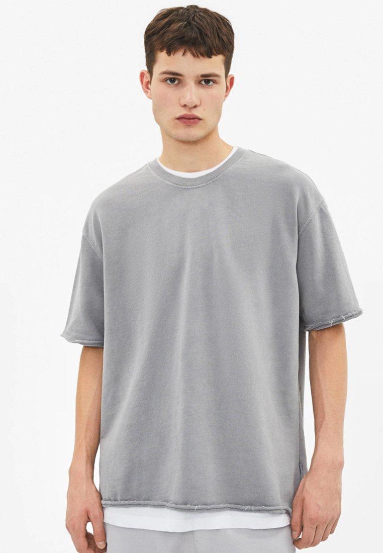 Bershka - T-shirt basic - silver