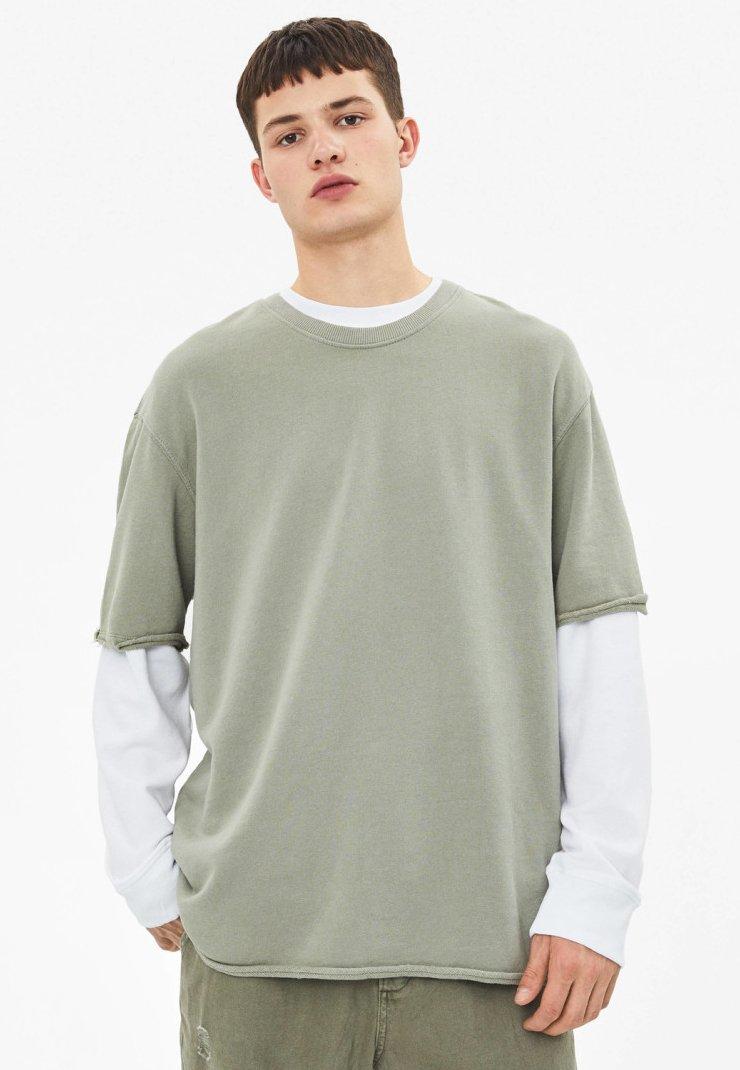 Bershka - T-shirt basic - khaki