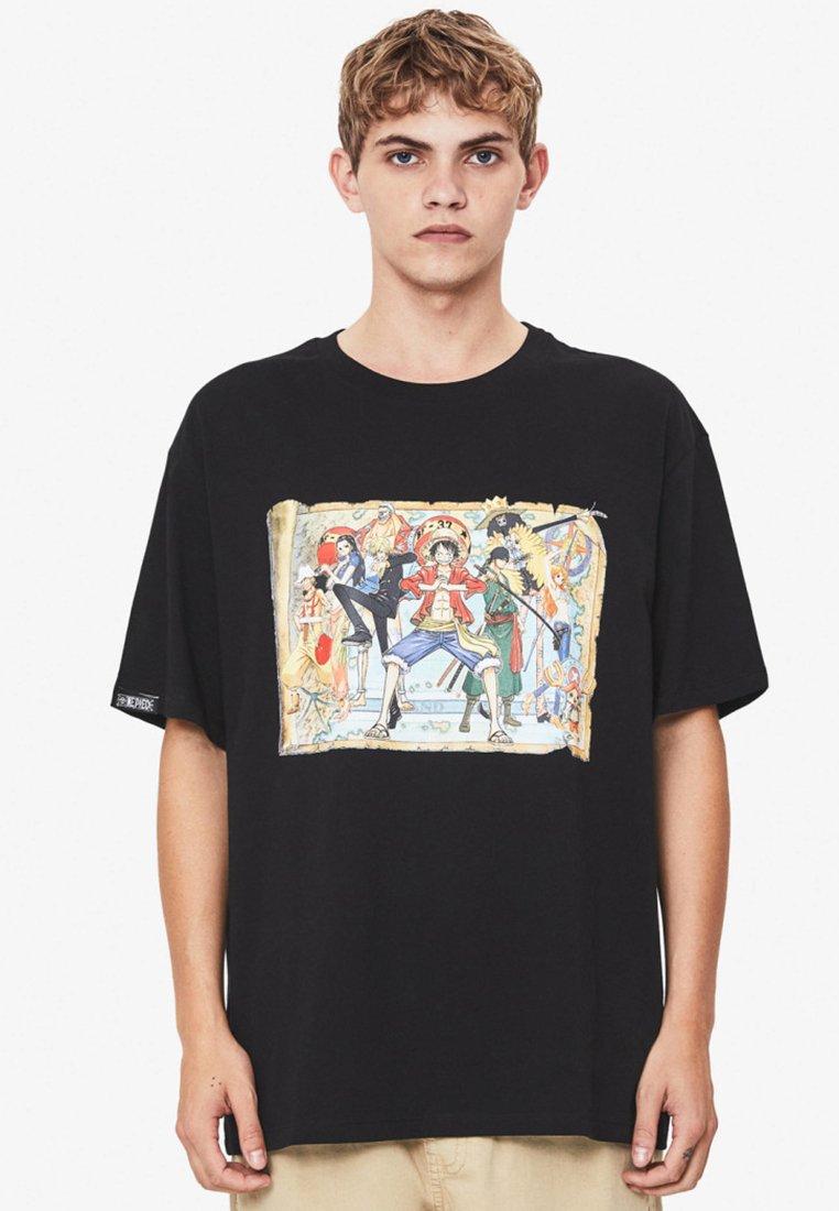 Bershka - T-Shirt print - black