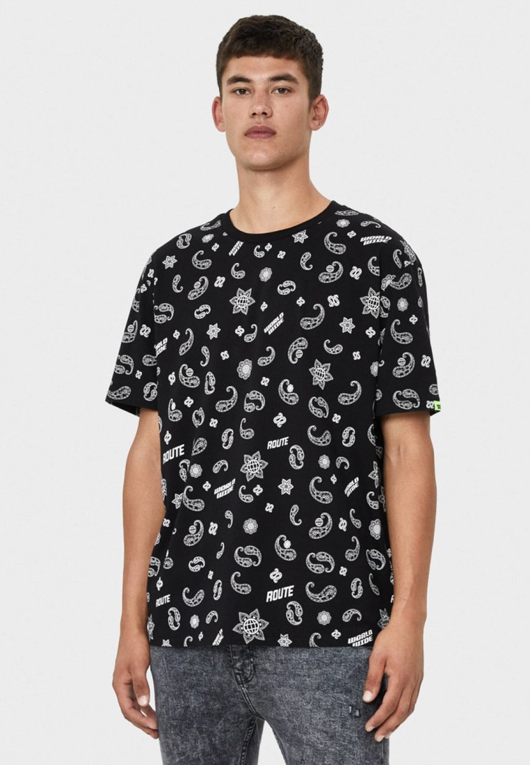 Bershka - T-shirts print - black