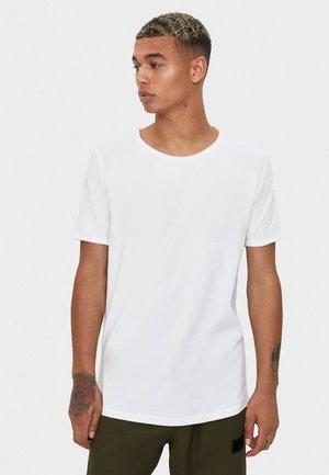 SHIRT MIT RUNDAUSSCHNITT 07758777 - T-shirt basic - white