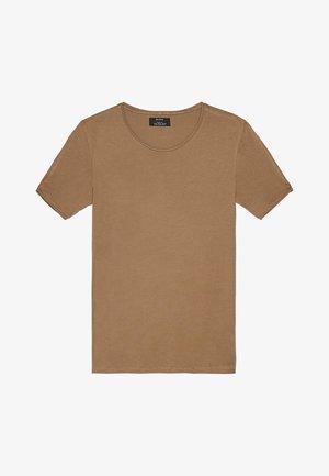 SHIRT MIT RUNDAUSSCHNITT 07758777 - T-shirt basic - khaki