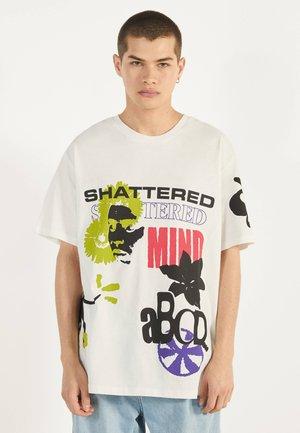 MIT PRINT 02425538 - Print T-shirt - white