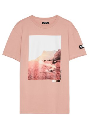 MIT PRINT - Print T-shirt - pink