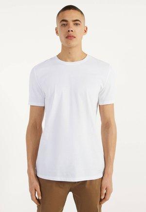 MIT RUNDAUSSCHNITT - Basic T-shirt - white