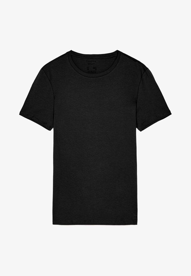MIT RUNDAUSSCHNITT - T-shirt basique - black