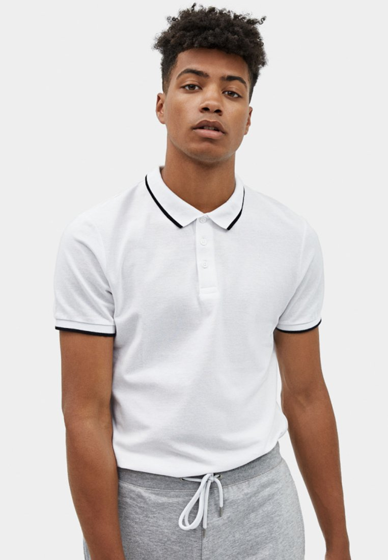 Bershka - Polo shirt - white