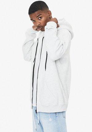 MIT KAPUZE  - veste en sweat zippée - light grey