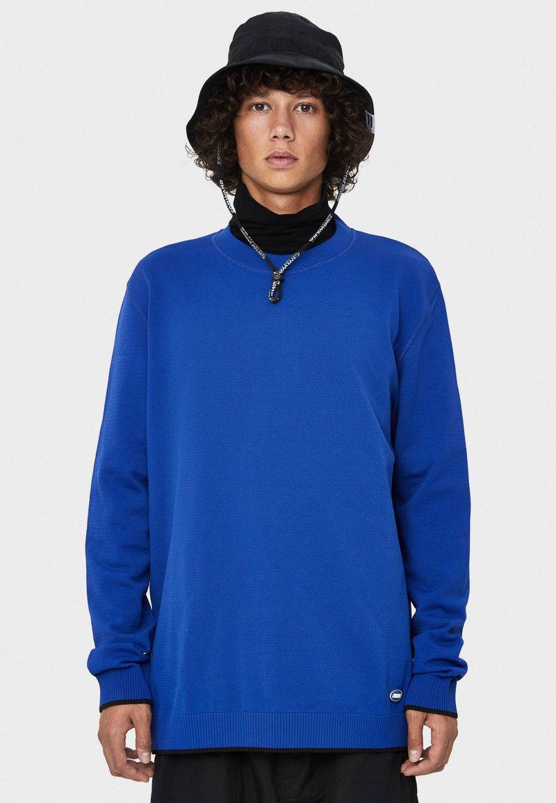 Bershka - Strickpullover - blue