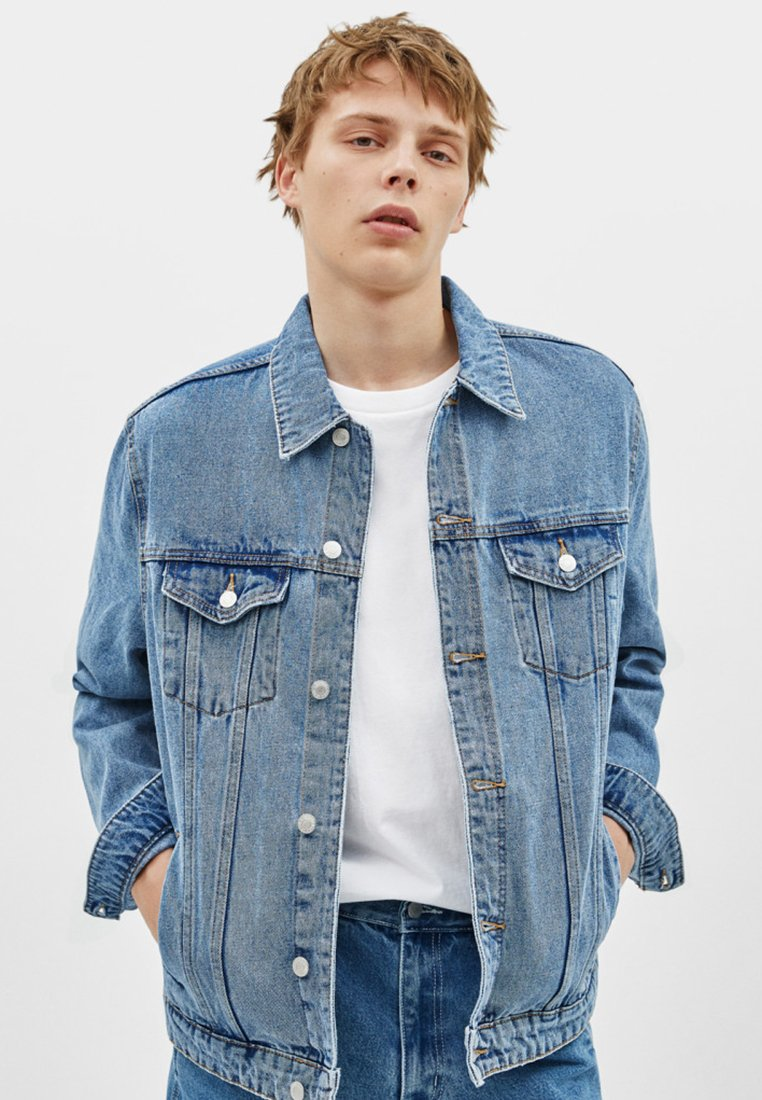 Bershka - Denim jacket - blue denim