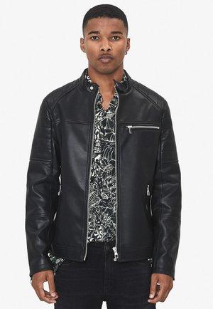 Imitatieleren jas - black