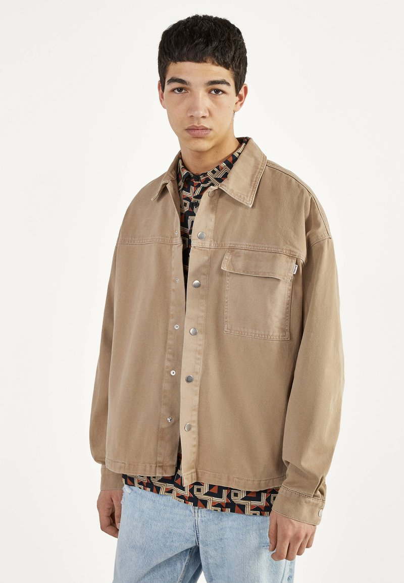 Bershka - Denim jacket - beige