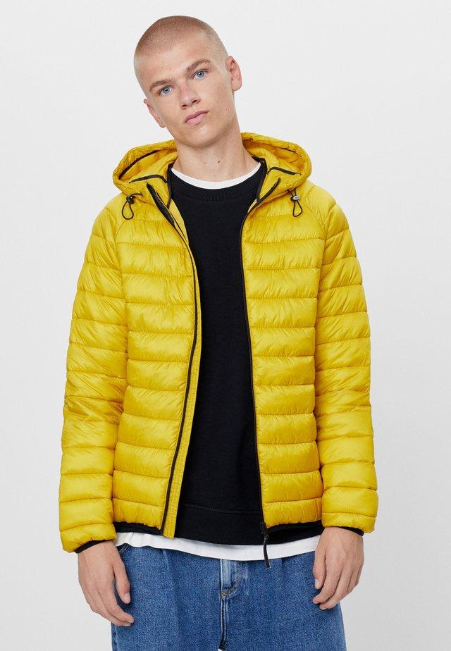 MIT KAPUZE - Jas - yellow