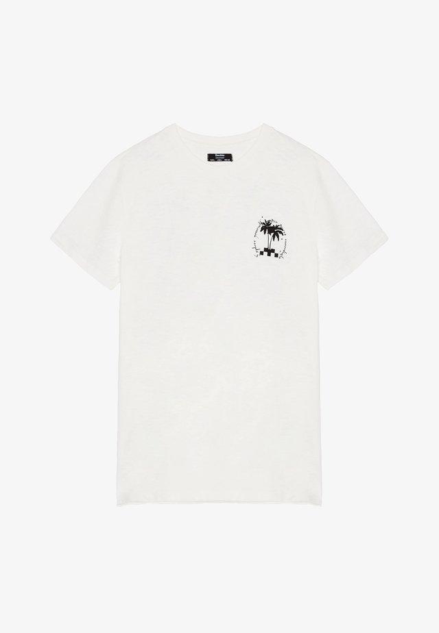 SHIRT MIT PRINT - T-shirt con stampa - white