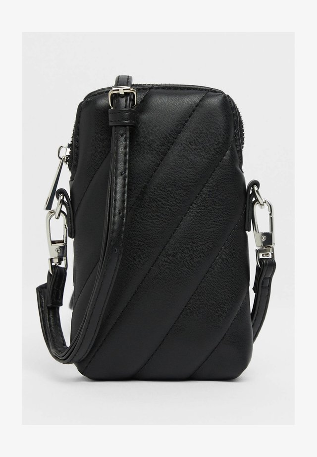 STEPPTASCHE MIT KETTENHENKEL 03431687 - Across body bag - black