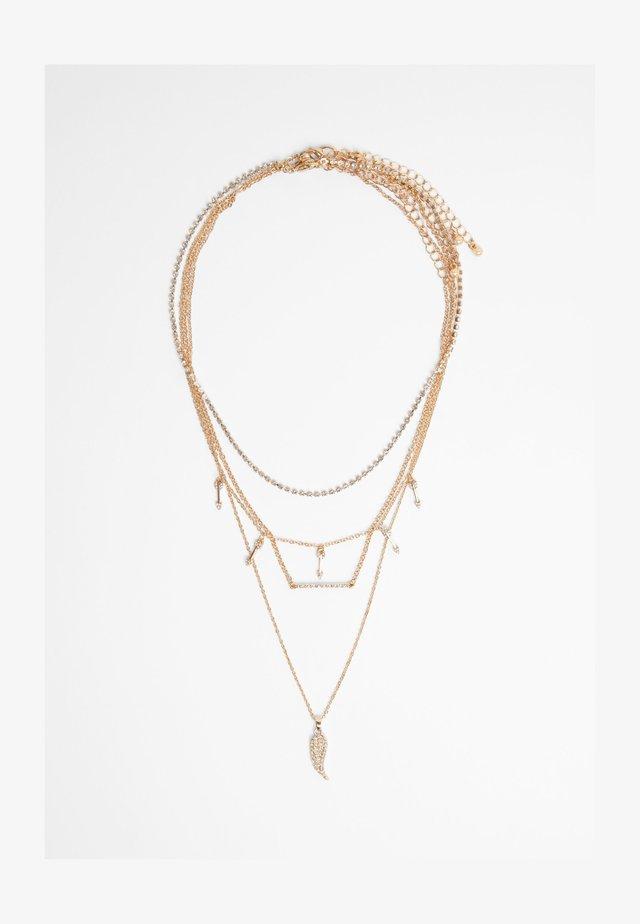 MEHRFACH- FLÜGEL - Halsband - gold