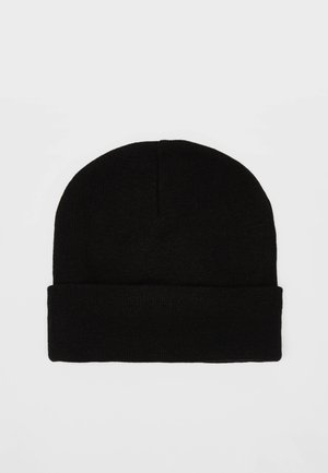 UNIFARBENE BEANIE-MÜTZE 09900984 - Bonnet - black