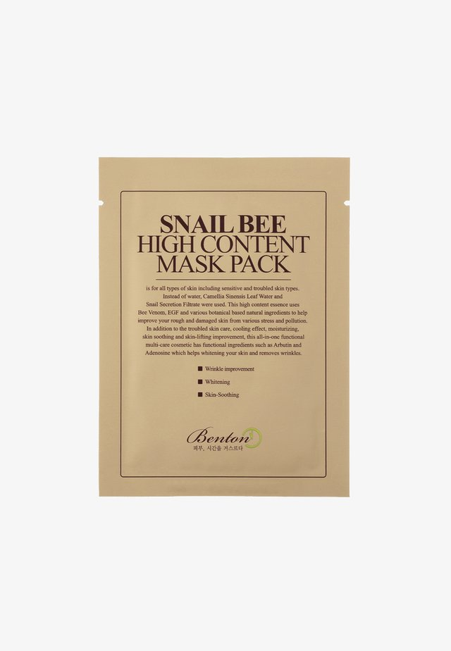 SNAIL BEE HIGH CONTENT MASK 2 PACK - Masque visage - neutral