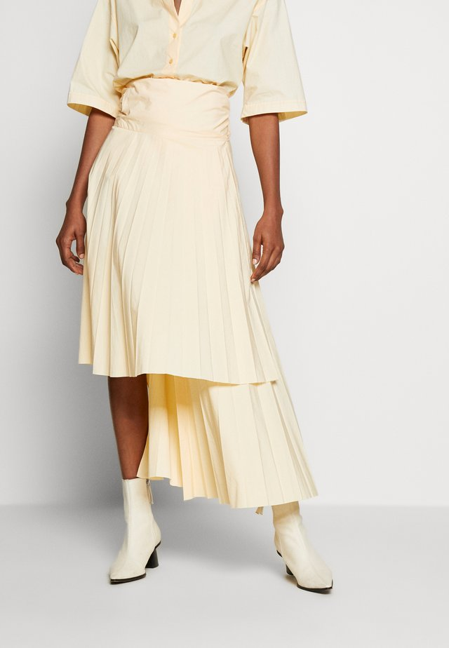 FIA PLEATED MIDI SKIRT - Kietaisuhame - butter