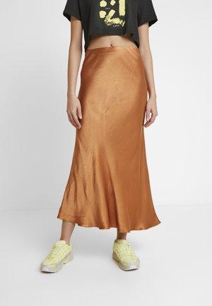LANI MIDI SKIRT - Áčková sukně - caramel