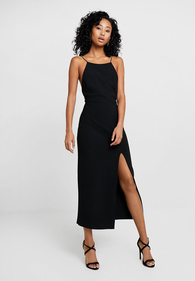 MARGAUX LOW BACK DRESS - Maxikleid - black
