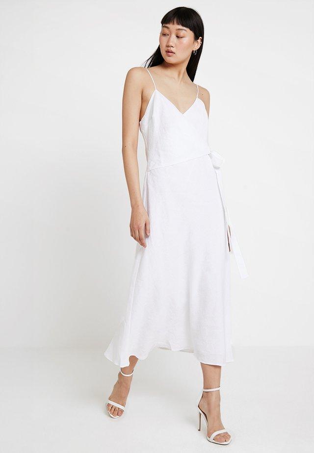 NATURAL WRAP DRESS - Maxikleid - ivory