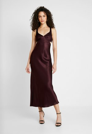 CAROLINE CUT OUT DRESS - Iltapuku - plum