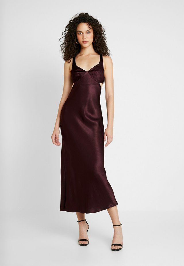 CAROLINE CUT OUT DRESS - Ballkleid - plum