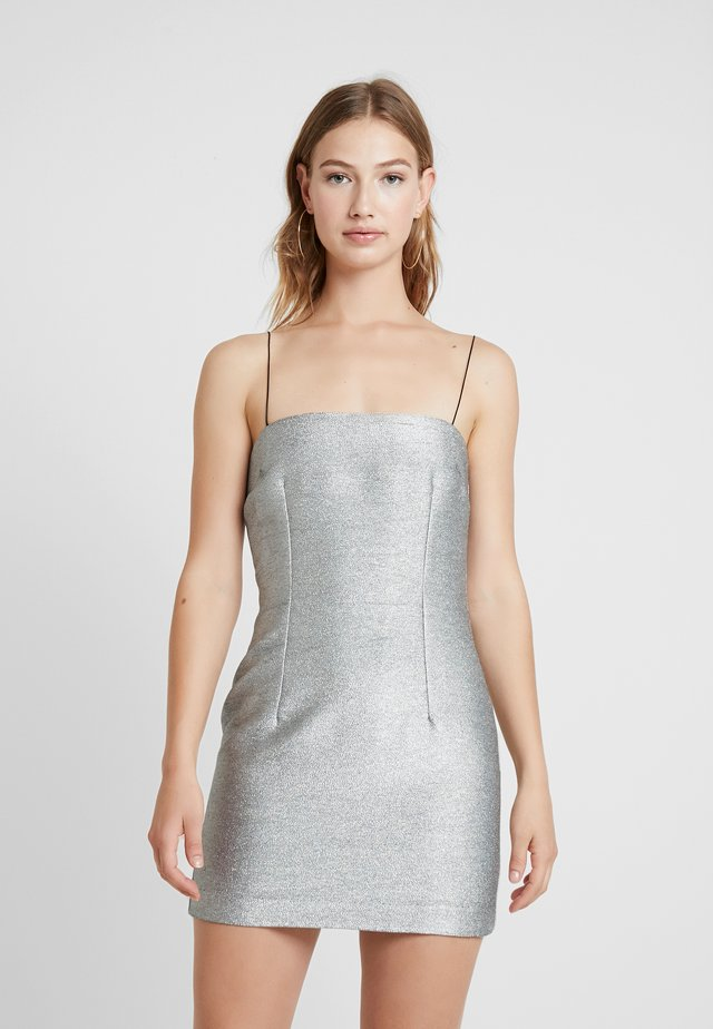 LADY SPARKLE MINI DRESS - Koktejlové šaty / šaty na párty - metallic