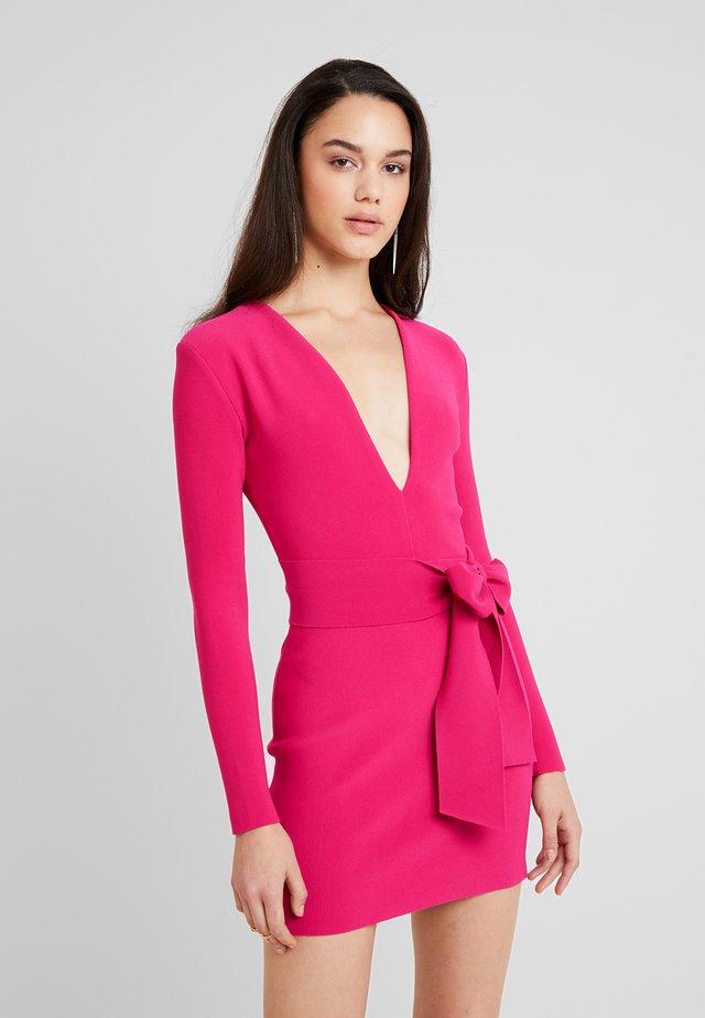 VALENTINE MINI DRESS - Cocktail dress / Party dress - hot pink