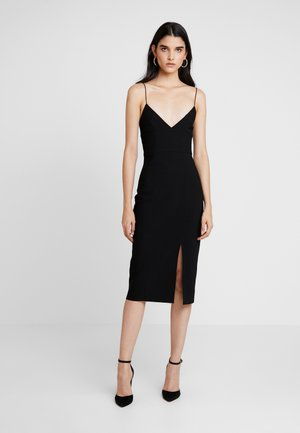 VALENTINE MIDI DRESS - Shift dress - black